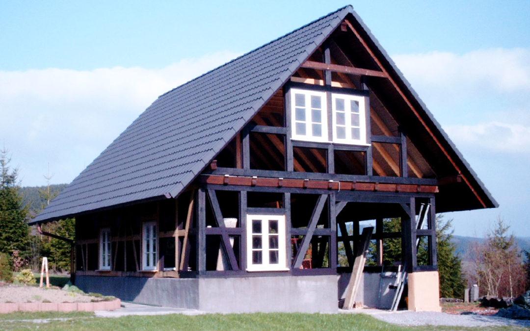 Neubau eines Fachwerkhauses